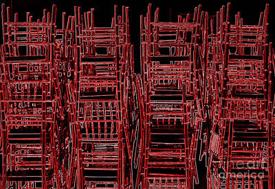 Photograph - Red Chairs by Bob Brents