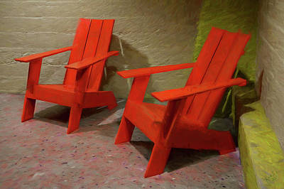 Photograph - Red Chairs by Rick Lawler