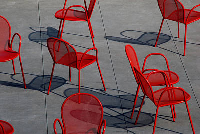 Photograph - Red Chairs by Stuart Allen