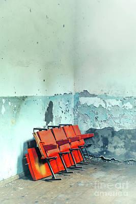 Red Chairs  Art Print by Svetlana Sewell