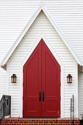 Photograph - Red Chapel Door by Ella Kaye Dickey