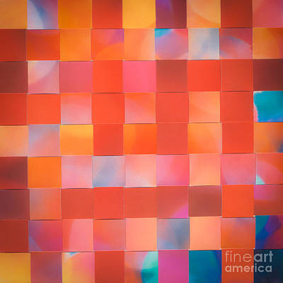 Mixed Media - Red Check by Jan Bickerton