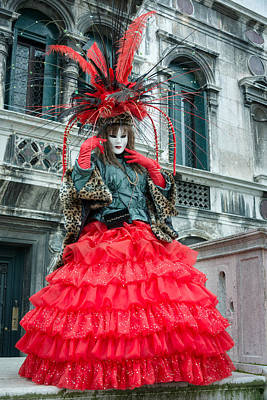 Carnevale Photograph - Red by Cheryl Schneider