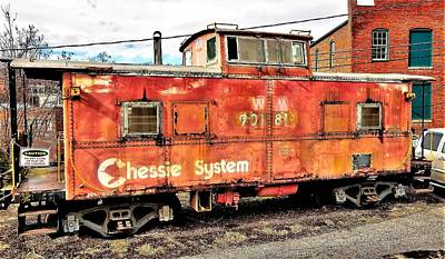 Photograph - Red Chessie Caboose by Jim Harris