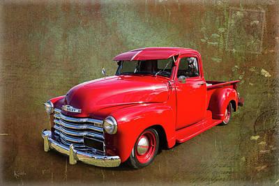 Red Chev Art Print by Keith Hawley