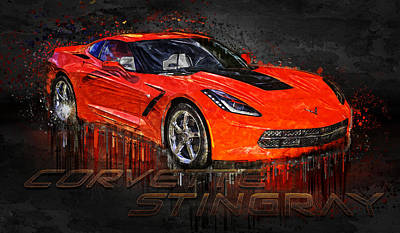 Photograph - Red Chevrolet Corvette Stingray by Ray Van Gundy