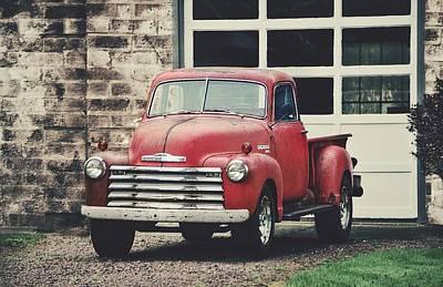 Photograph - Red Chevrolet by Stephanie Calhoun