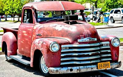 Photograph - Red Chevy Hot Rod Truck by Amy McDaniel