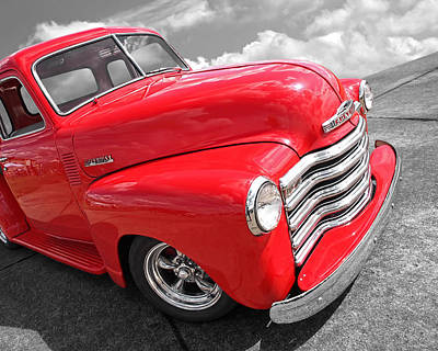 Photograph - Red Chevy Pickup by Gill Billington