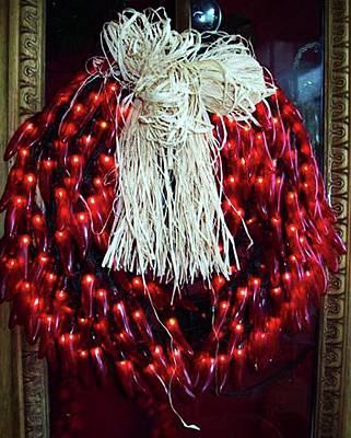 Red Chili Wreath Art Print