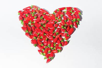 Red Chillie Heart II Art Print
