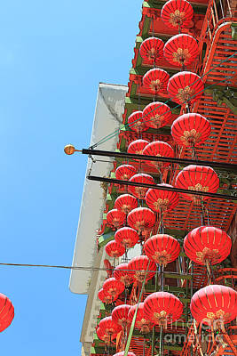 Painting - Red Chinese Lanterns by Jeanette French