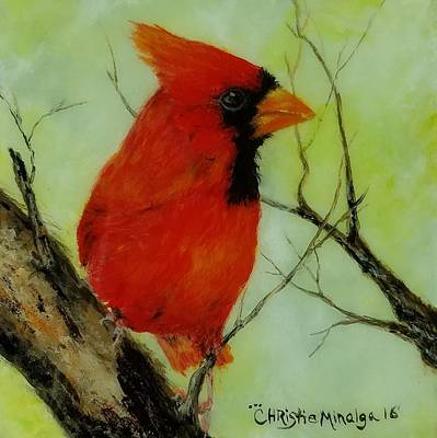 Art Print featuring the painting Red by Christie Minalga