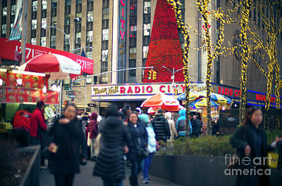 Photograph - Red Christmas At Radio City Music Hall by John Rizzuto