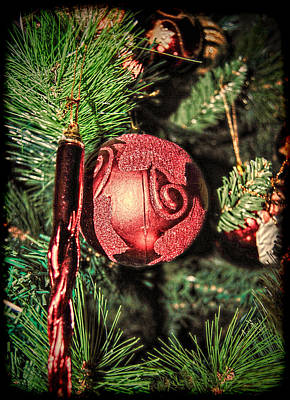 Photograph - Red Christmas Ornament by Isam Awad