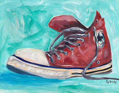 Chucks Painting - Red Chuck by Robin Wiesneth