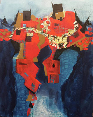 Painting - Red City by Judith Visker