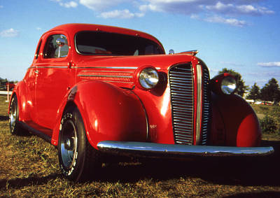 American Photograph - Red Classic Car 55 - American Automobile Photo by Art America Online Gallery