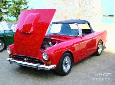 Photograph - Red Classic Car by Donna Munro
