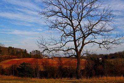 Photograph - Red Clay Farmland 1 by Kathryn Meyer