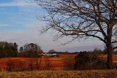 Photograph - Red Clay Farmland 2 by Kathryn Meyer