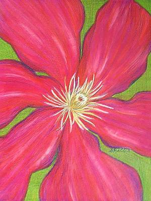 Photograph - Red Clematis Flower  by Beth Akerman