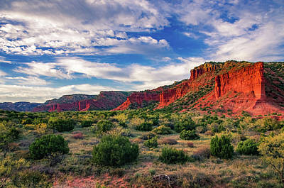 Photograph - Red Cliffs Of Caprock Canyon by Adam Reinhart
