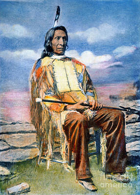 Chief Red Cloud Photograph - Red Cloud (1822-1909) by Granger