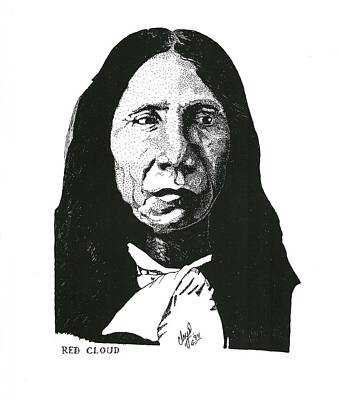 Drawing - Red Cloud by Clayton Cannaday