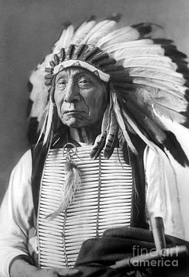 Sioux Photograph - Red Cloud, Dakota Chief, Wearing A Headdress, 1880s by David Frances Barry