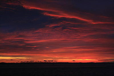 Photograph - Red Cloud Sunrise On West Fire Island by Christopher Kirby