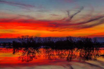 Photograph - Red Clouds At Sunset by Garry Gay