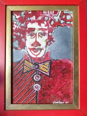 Painting - Red Clown by Adalardo Nunciato  Santiago