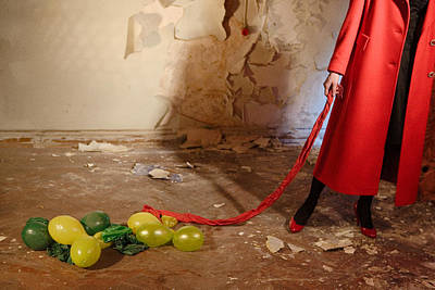 Photograph - Red Coat #4810 by Andrey Godyaykin