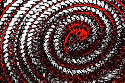 Digital Art - Red Coil by Matthew Naiden