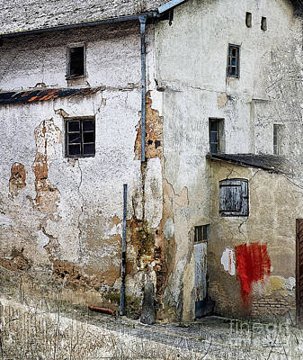 Old Town Digital Art - Red Color Stain by Jutta Maria Pusl