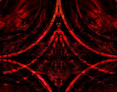 Digital Art - Red Competition by Art Di