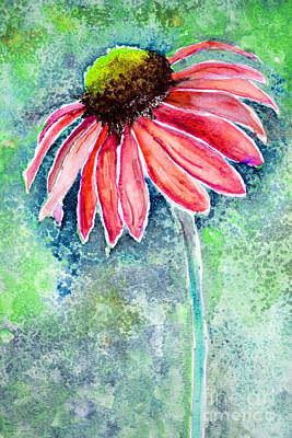 Painting - Red Cone Flower 9-1-15 by Mas Art Studio