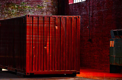Photograph - Red Container by Ricardo Dominguez