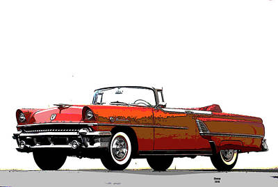 Red Convertable Art Print by Charles Shoup