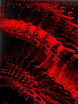 Digital Art - Red by Cooky Goldblatt
