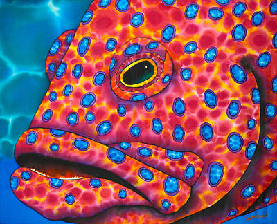 Painting - Red Coral Grouper by Daniel Jean-Baptiste
