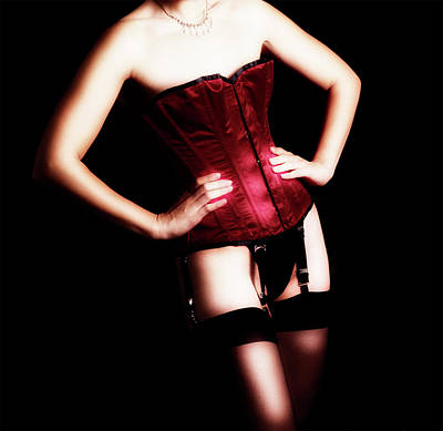 Photograph - Red Corset A by Stuart Brown