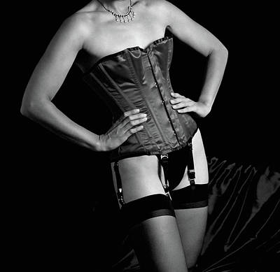 Photograph - Red Corset Bw  by Stuart Brown