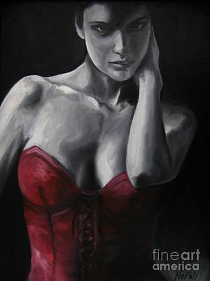 Red Corset Nr.4 Art Print by Jindra Noewi