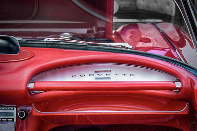 Photograph - Red Corvette Interior by Phil Cardamone