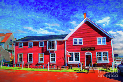 Photograph - Red Cottage Painting by Rick Bragan