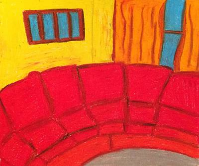 Drawing - Red Couch by Samantha L