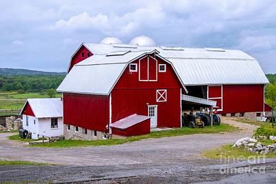 Photograph - Red Country Barn by Anthony Sacco