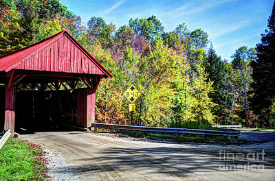 Photograph - Red Covered Bridge by Deborah Klubertanz